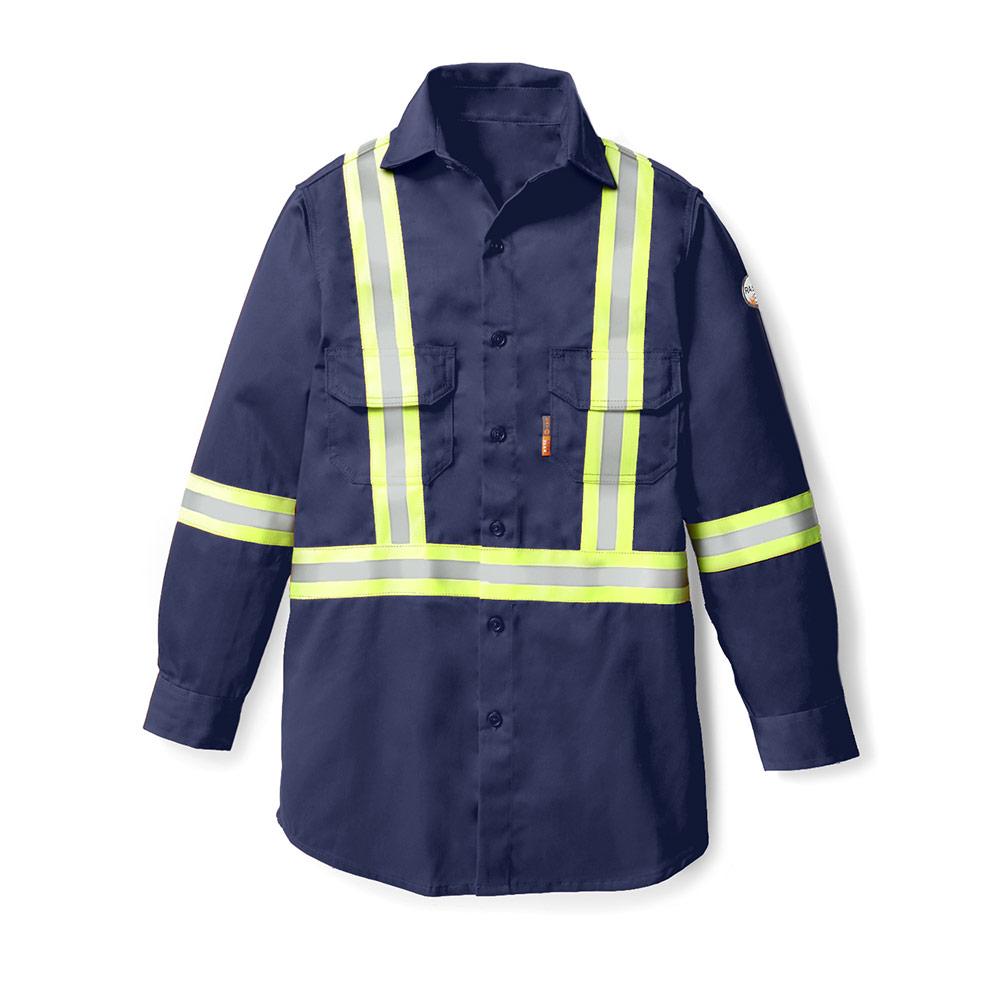 baf304ec17 Rasco FR » Uniform Shirt with Reflective Trim